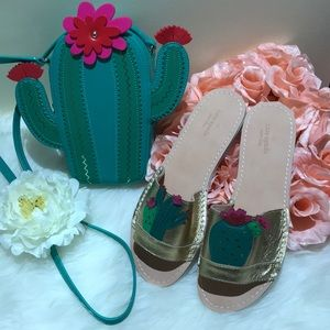 NWOT Kate Spade ♠️ Leather cactus sandals size 9.5